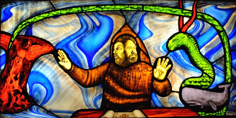 Saint Brendan the Visionary stained glass mary leen