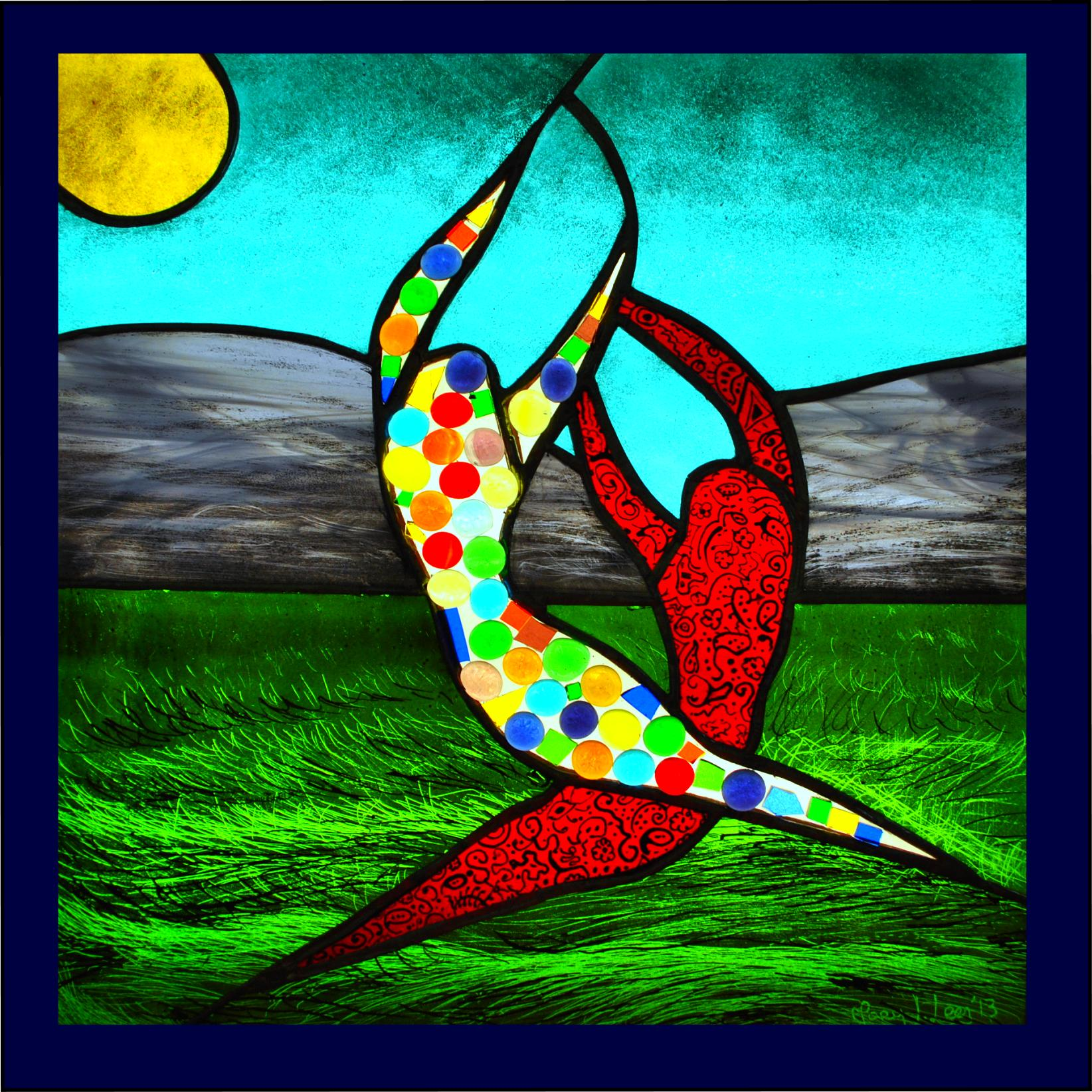 Dream Chasers stained glass mary leen