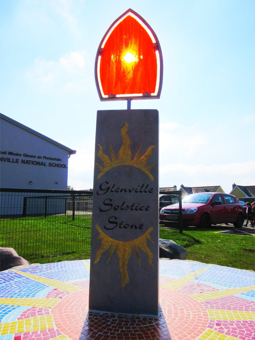 Glenville solstice stone detail