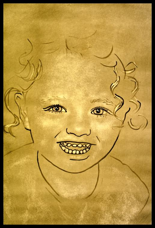 Stained Glass Portrait of Ava