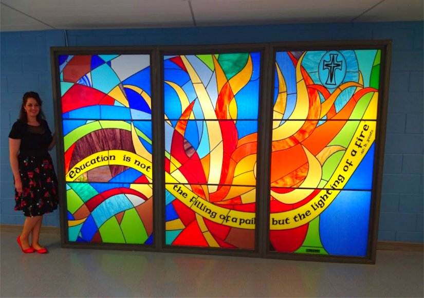 Mercy Mounthawk Secondary School Stained Glass