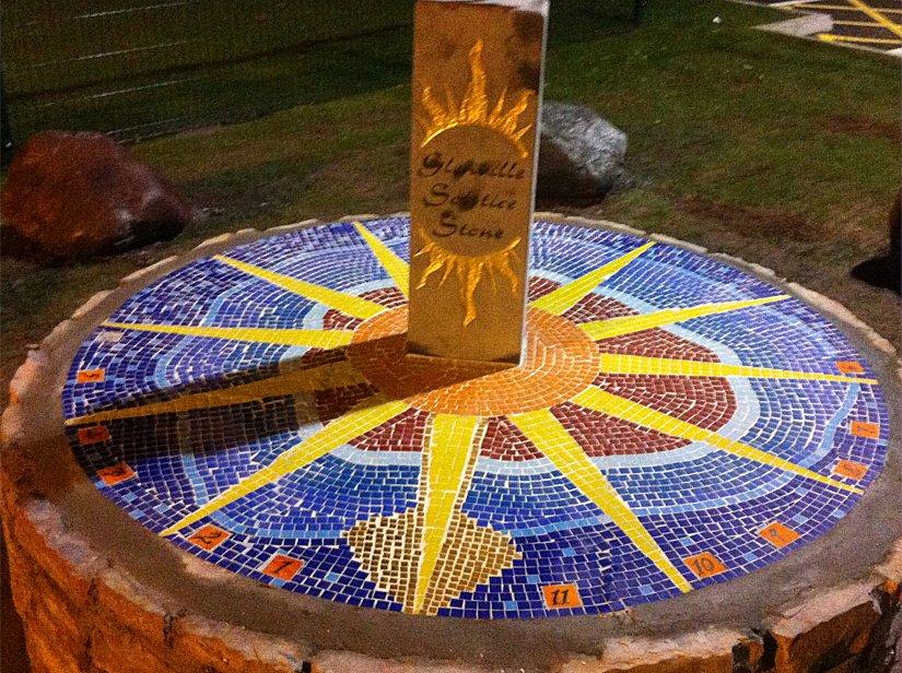 Mosaic detail of Sundial