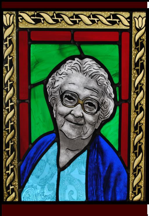 Old Woman in Stained Glass
