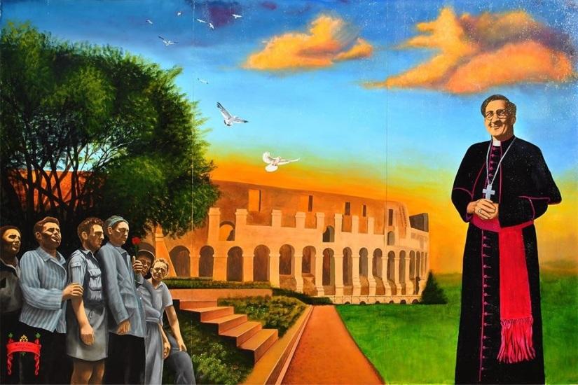Monsignor Hugh O' Flaherty mural
