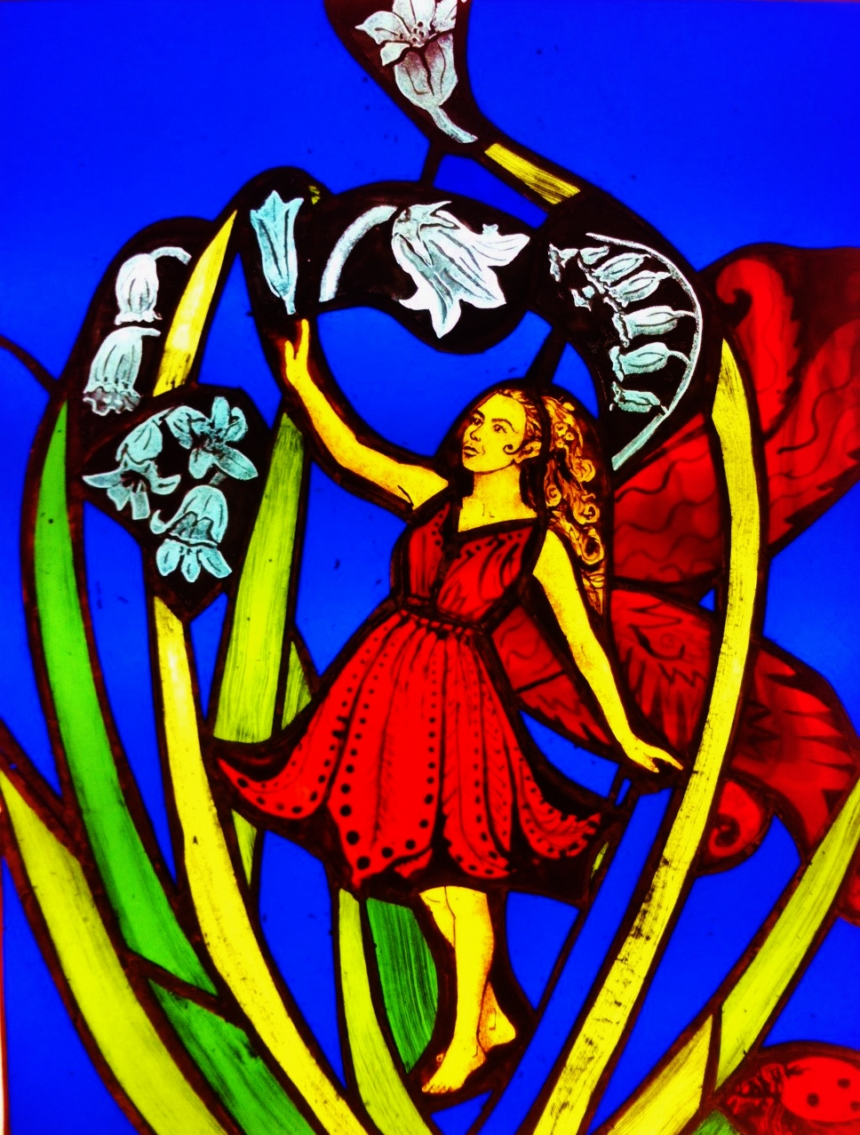 stained glass of Bluebell Fairy