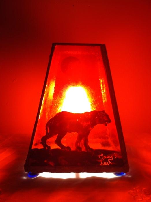 Lion power animal meditation lamp mary leen