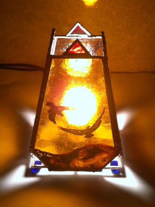 Eagle power animal meditation lamp mary j leen
