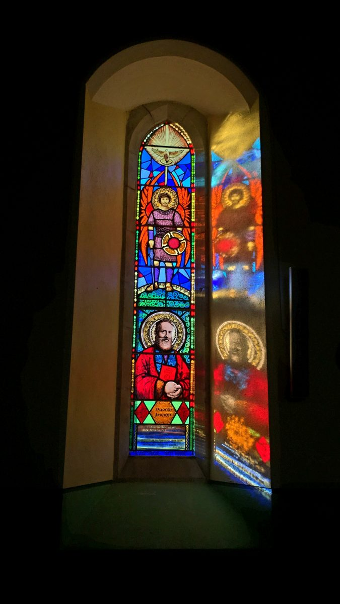 Stained glass window Venrty Church Dingle